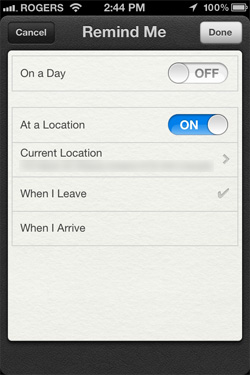 iPhone Reminders App